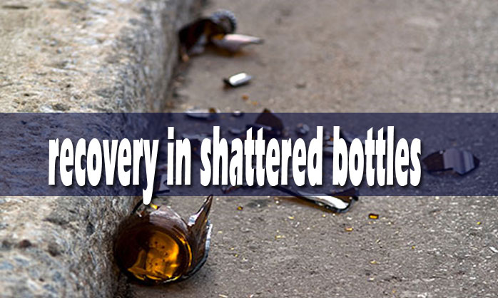 "The F.H.B.s * in my life #15 ""…recovery in shattered bottles"""
